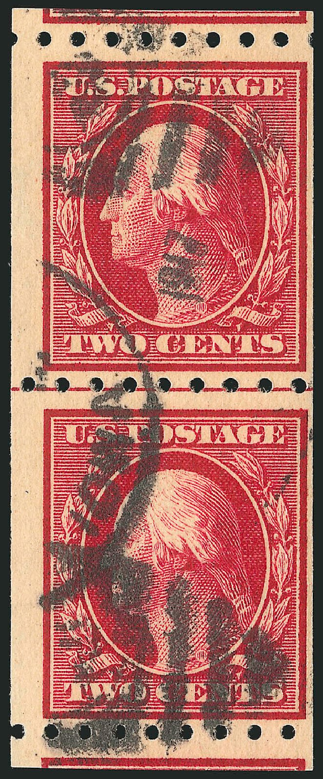 Values of US Stamps Scott Catalog 391: 1910 2c Washington Coil. Robert Siegel Auction Galleries, Feb 2015, Sale 1093, Lot 219