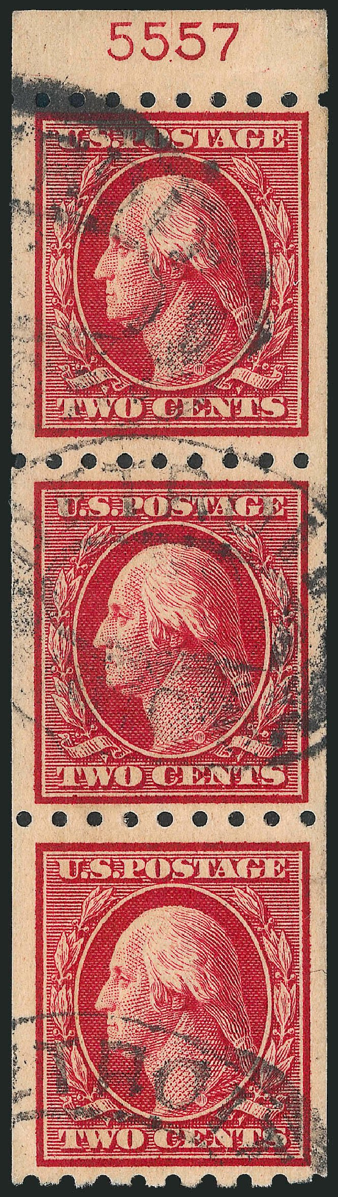 US Stamps Price Scott # 391: 1910 2c Washington Coil. Robert Siegel Auction Galleries, Mar 2013, Sale 1040, Lot 1760