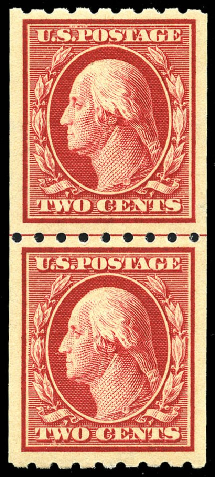 Cost of US Stamps Scott Catalogue #391: 2c 1910 Washington Coil. Matthew Bennett International, May 2014, Sale 350, Lot 541