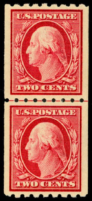 Prices of US Stamps Scott # 391: 2c 1910 Washington Coil. Daniel Kelleher Auctions, Sep 2013, Sale 639, Lot 3494