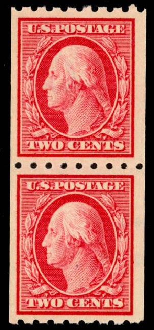 Value of US Stamps Scott Catalog #391 - 2c 1910 Washington Coil. Daniel Kelleher Auctions, Sep 2014, Sale 655, Lot 462