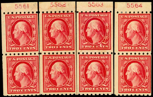 Cost of US Stamp Scott Catalog 391 - 2c 1910 Washington Coil. Daniel Kelleher Auctions, Sep 2014, Sale 655, Lot 463