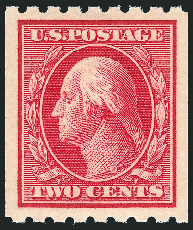 US Stamp Prices Scott Catalog # 391: 1910 2c Washington Coil. Robert Siegel Auction Galleries, Dec 2013, Sale 1062, Lot 573