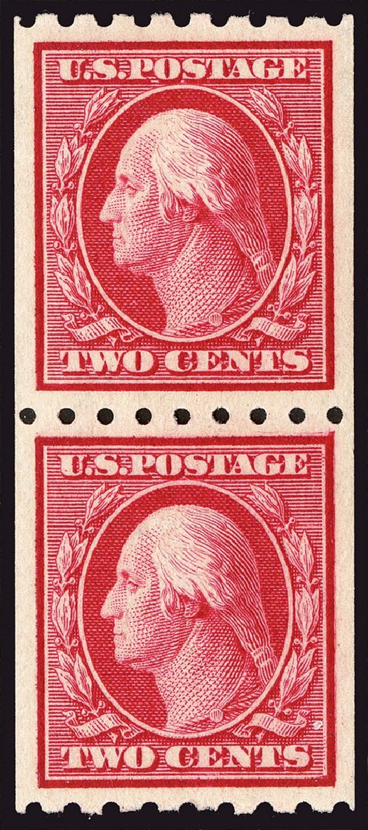 US Stamp Value Scott Cat. #391: 2c 1910 Washington Coil. Spink Shreves Galleries, Jan 2014, Sale 146, Lot 386