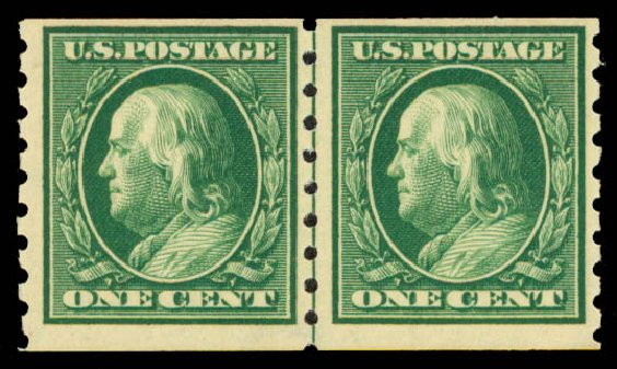 Price of US Stamps Scott Catalog 392 - 1c 1910 Franklin Coil. Daniel Kelleher Auctions, May 2015, Sale 669, Lot 2948