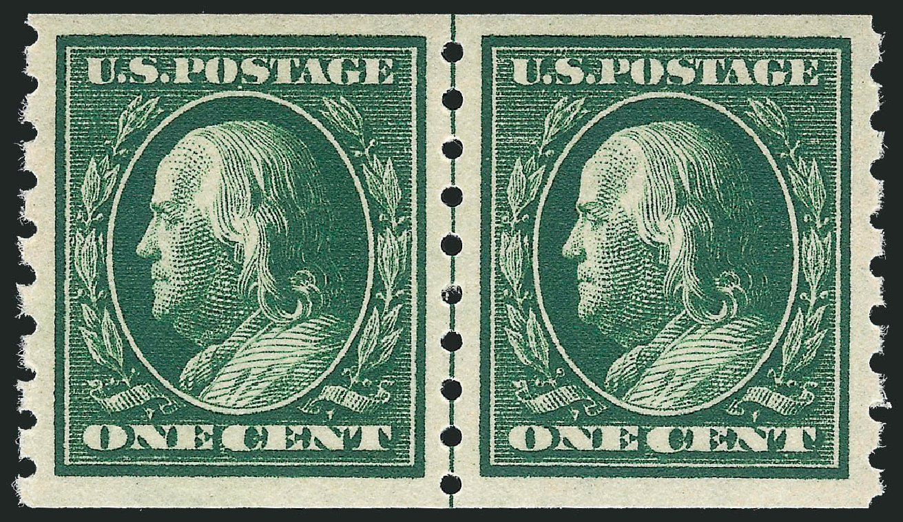 Cost of US Stamps Scott 392: 1c 1910 Franklin Coil. Robert Siegel Auction Galleries, Dec 2012, Sale 1037, Lot 2028