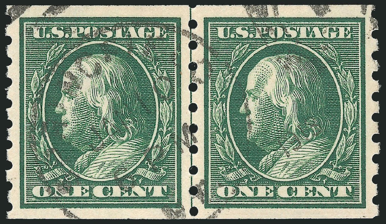 US Stamp Values Scott Catalogue #392: 1c 1910 Franklin Coil. Robert Siegel Auction Galleries, Sep 2012, Sale 1028, Lot 361