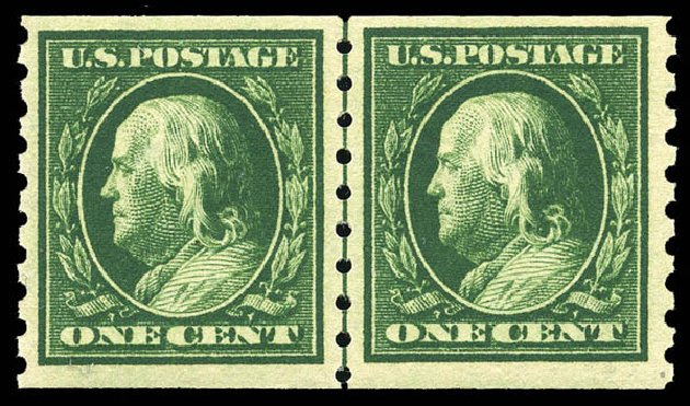 Cost of US Stamp Scott Catalog # 392 - 1c 1910 Franklin Coil. Matthew Bennett International, May 2014, Sale 350, Lot 542