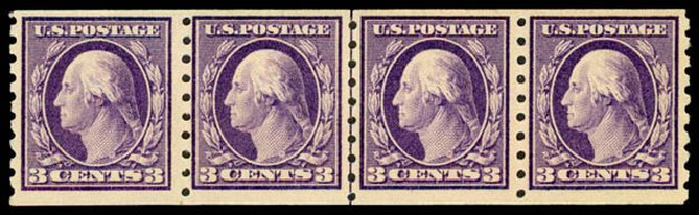 Cost of US Stamps Scott Catalog #394: 1911 3c Washington Coil. Daniel Kelleher Auctions, May 2015, Sale 669, Lot 2957