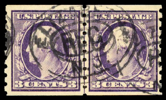 Cost of US Stamps Scott # 394: 1911 3c Washington Coil. Daniel Kelleher Auctions, Aug 2015, Sale 672, Lot 2700