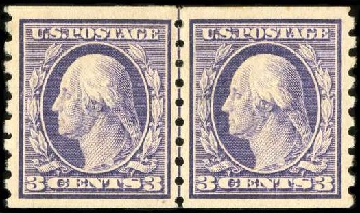 Cost of US Stamps Scott Cat. #394: 1911 3c Washington Coil. Spink Shreves Galleries, Jul 2015, Sale 151, Lot 281