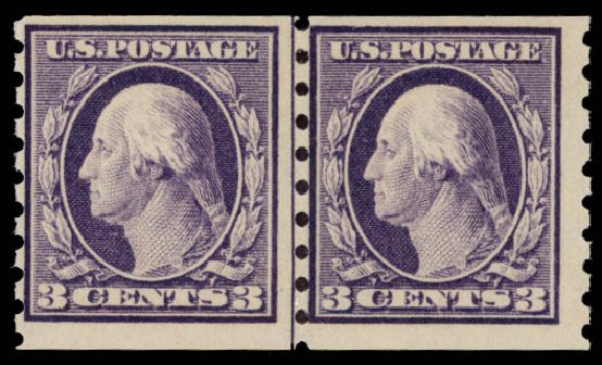 Price of US Stamp Scott Cat. # 394: 3c 1911 Washington Coil. Daniel Kelleher Auctions, May 2015, Sale 669, Lot 2955