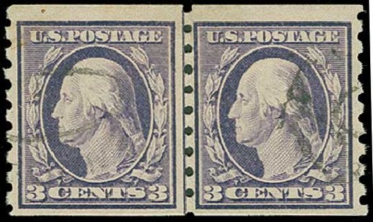 US Stamps Prices Scott Catalog #394: 3c 1911 Washington Coil. H.R. Harmer, Jun 2015, Sale 3007, Lot 3322