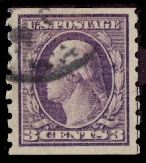 Prices of US Stamps Scott #394 - 3c 1911 Washington Coil. Daniel Kelleher Auctions, May 2015, Sale 669, Lot 2952