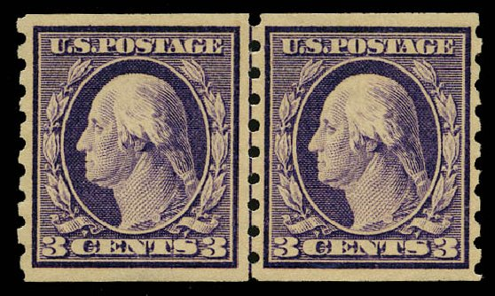 US Stamps Price Scott Catalog # 394: 3c 1911 Washington Coil. Daniel Kelleher Auctions, May 2015, Sale 669, Lot 2953