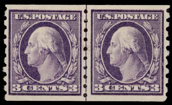Price of US Stamps Scott 394: 3c 1911 Washington Coil. Daniel Kelleher Auctions, May 2015, Sale 669, Lot 2956