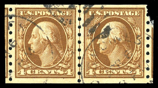 Costs of US Stamps Scott Catalogue # 395 - 1912 4c Washington Coil. Matthew Bennett International, Feb 2015, Sale 351, Lot 180