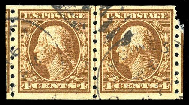 Costs of US Stamps Scott Catalogue # 395 - 1912 4c Washington Coil. Matthew Bennett International, Feb 2015, Sale 351, Lot 180
