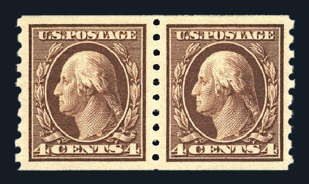 Cost of US Stamp Scott Cat. #395 - 1912 4c Washington Coil. Harmer-Schau Auction Galleries, Aug 2015, Sale 106, Lot 1790