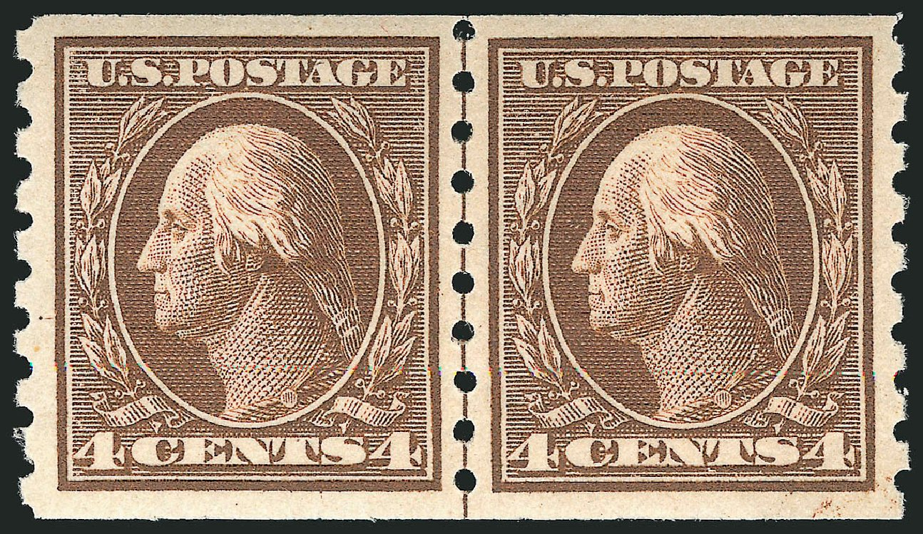 Value of US Stamps Scott Cat. #395 - 1912 4c Washington Coil. Robert Siegel Auction Galleries, Apr 2015, Sale 1096, Lot 640