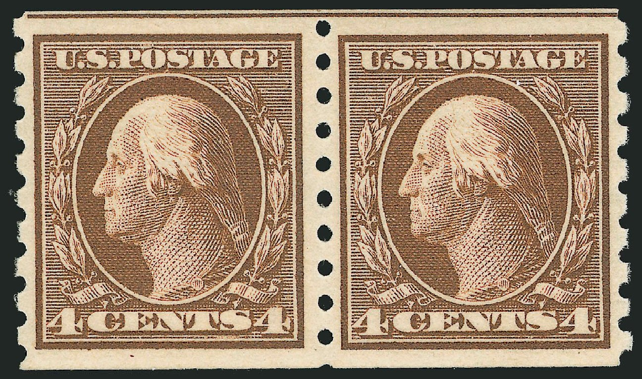 Value of US Stamps Scott 395: 4c 1912 Washington Coil. Robert Siegel Auction Galleries, Feb 2015, Sale 1093, Lot 223