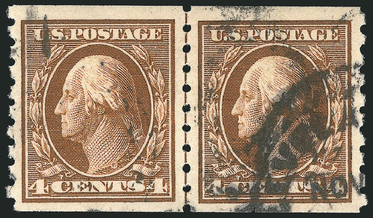Values of US Stamps Scott 395: 4c 1912 Washington Coil. Robert Siegel Auction Galleries, Feb 2015, Sale 1093, Lot 226