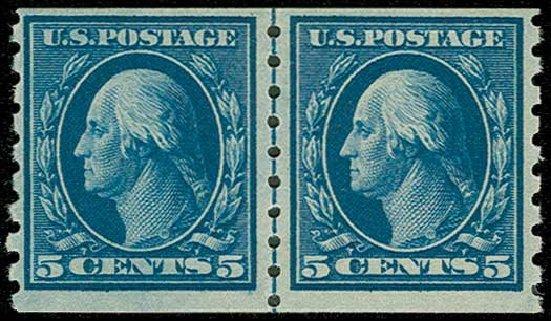 US Stamps Price Scott Catalogue #396: 5c 1913 Washington Coil. H.R. Harmer, Jun 2015, Sale 3007, Lot 3323