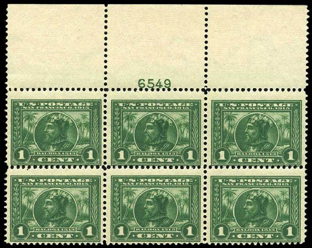 Cost of US Stamps Scott Catalogue # 397: 1913 1c Panama-Pacific Exposition. Harmer-Schau Auction Galleries, Oct 2013, Sale 99, Lot 177