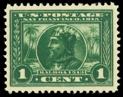 Value of US Stamps Scott Catalog #397 - 1c 1913 Panama-Pacific Exposition. Daniel Kelleher Auctions, Oct 2014, Sale 660, Lot 2357