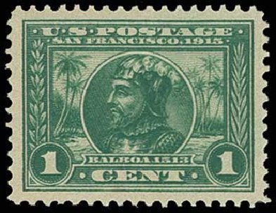 Value of US Stamp Scott #397: 1913 1c Panama-Pacific Exposition. H.R. Harmer, Jun 2013, Sale 3003, Lot 1278