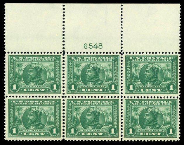 Costs of US Stamps Scott Cat. # 397 - 1913 1c Panama-Pacific Exposition. Daniel Kelleher Auctions, Mar 2014, Sale 648, Lot 2238