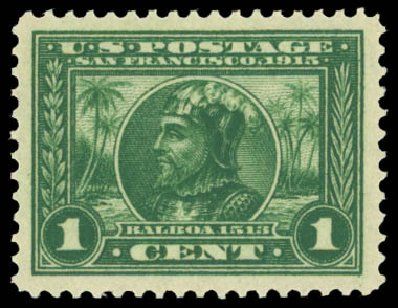 Price of US Stamps Scott Cat. #397: 1913 1c Panama-Pacific Exposition. Daniel Kelleher Auctions, May 2014, Sale 653, Lot 2228