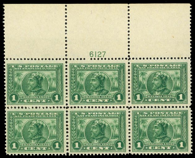 US Stamps Value Scott Catalog #397: 1c 1913 Panama-Pacific Exposition. Daniel Kelleher Auctions, May 2014, Sale 653, Lot 2418