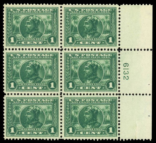 US Stamps Price Scott # 397: 1913 1c Panama-Pacific Exposition. Daniel Kelleher Auctions, Jan 2015, Sale 663, Lot 1748