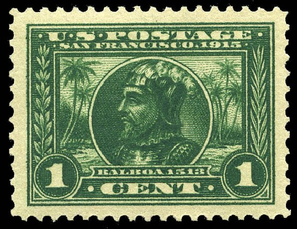 Values of US Stamps Scott Catalog 397 - 1913 1c Panama-Pacific Exposition. Matthew Bennett International, May 2014, Sale 350, Lot 549