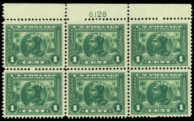 US Stamp Values Scott Cat. # 397 - 1c 1913 Panama-Pacific Exposition. Daniel Kelleher Auctions, Jan 2015, Sale 663, Lot 1749
