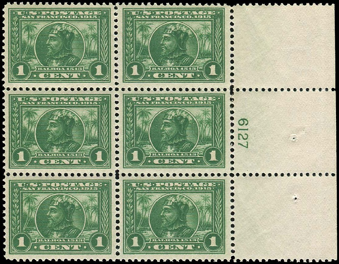 Prices of US Stamps Scott Catalogue # 397 - 1913 1c Panama-Pacific Exposition. Regency-Superior, Nov 2014, Sale 108, Lot 1320