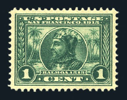 US Stamps Values Scott Catalogue #397 - 1913 1c Panama-Pacific Exposition. Harmer-Schau Auction Galleries, Aug 2015, Sale 106, Lot 1791