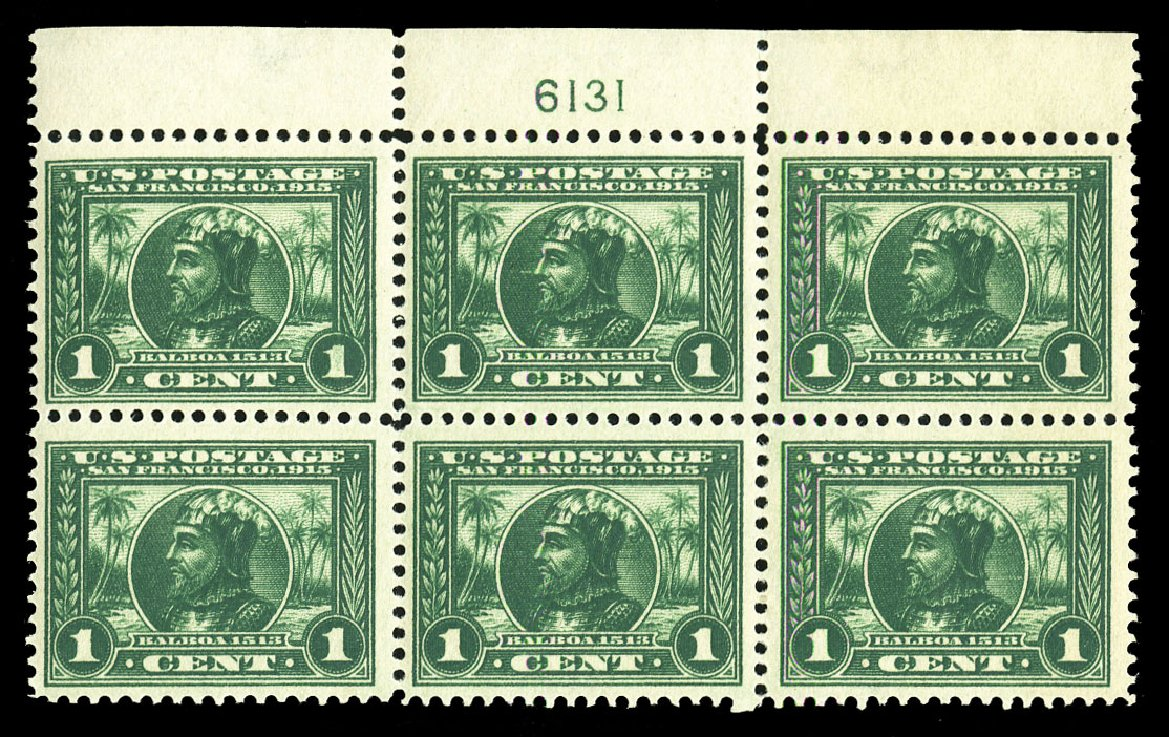 Costs of US Stamps Scott Catalog # 397: 1c 1913 Panama-Pacific Exposition. Cherrystone Auctions, Jul 2015, Sale 201507, Lot 2144