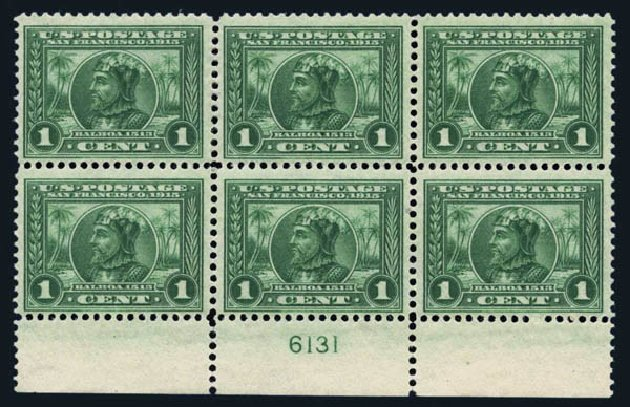 US Stamps Prices Scott Catalogue # 397 - 1c 1913 Panama-Pacific Exposition. Harmer-Schau Auction Galleries, Aug 2014, Sale 102, Lot 2004