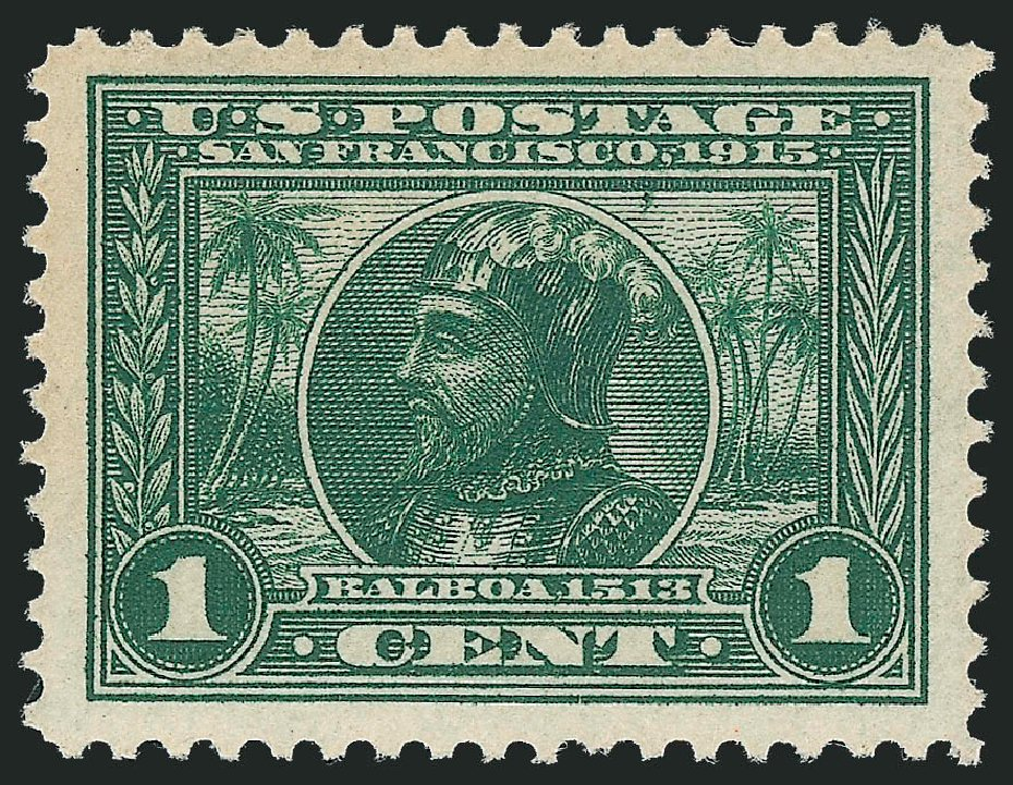 Value of US Stamp Scott Cat. #397: 1c 1913 Panama-Pacific Exposition. Robert Siegel Auction Galleries, Nov 2013, Sale 1061, Lot 3884
