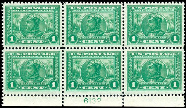 US Stamp Values Scott Cat. # 397 - 1c 1913 Panama-Pacific Exposition. Schuyler J. Rumsey Philatelic Auctions, Apr 2015, Sale 60, Lot 2915