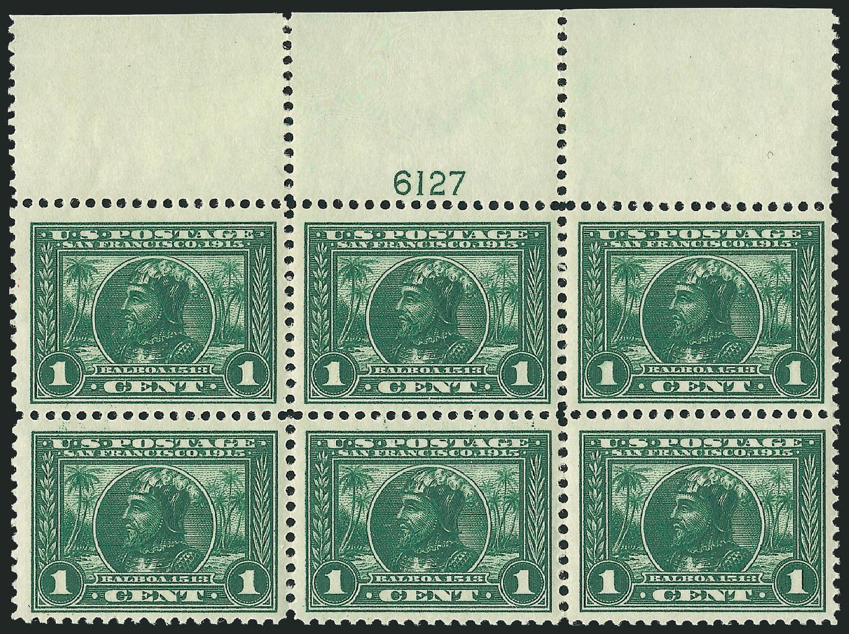 Cost of US Stamp Scott #397 - 1c 1913 Panama-Pacific Exposition. Robert Siegel Auction Galleries, Nov 2013, Sale 1061, Lot 3885