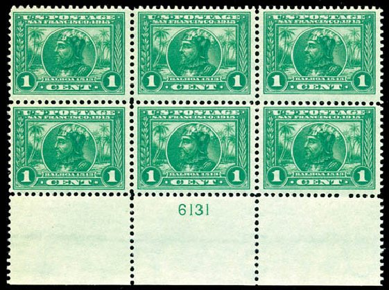 Cost of US Stamp Scott Catalogue #397 - 1913 1c Panama-Pacific Exposition. Schuyler J. Rumsey Philatelic Auctions, Apr 2015, Sale 60, Lot 2916
