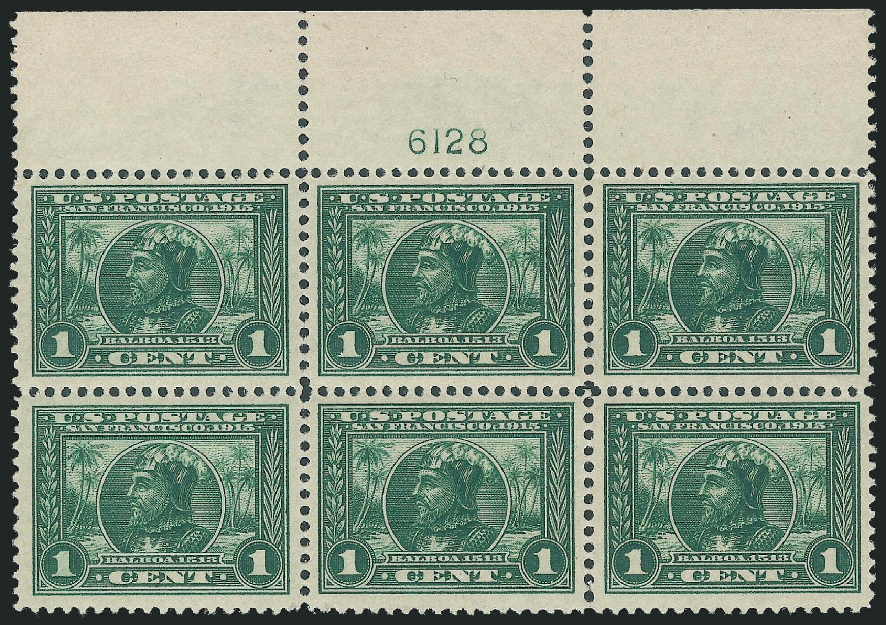 Value of US Stamps Scott Cat. 397: 1c 1913 Panama-Pacific Exposition. Robert Siegel Auction Galleries, Nov 2013, Sale 1061, Lot 3886