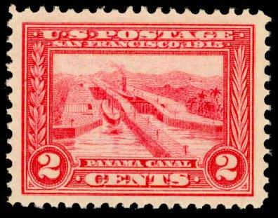 Value of US Stamp Scott 398 - 1913 2c Panama-Pacific Exposition. Daniel Kelleher Auctions, Oct 2014, Sale 660, Lot 2358
