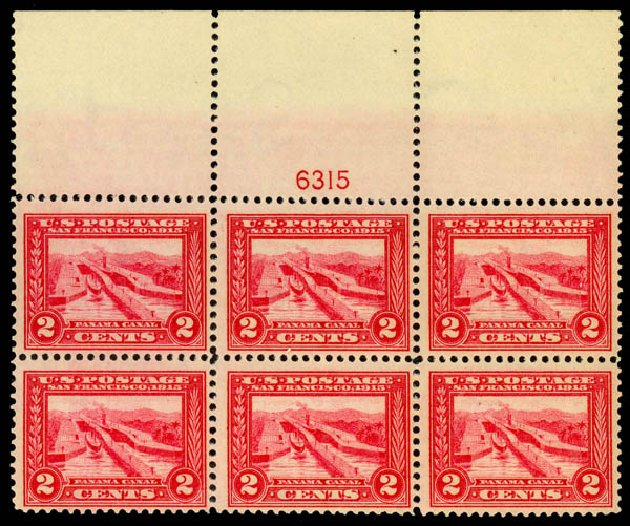 Prices of US Stamps Scott # 398 - 2c 1913 Panama-Pacific Exposition. Daniel Kelleher Auctions, Jan 2015, Sale 663, Lot 1750