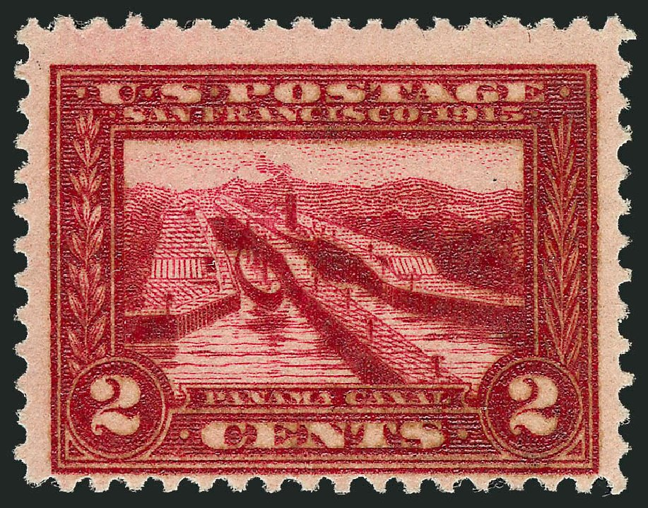US Stamps Prices Scott Catalogue #398 - 1913 2c Panama-Pacific Exposition. Robert Siegel Auction Galleries, Oct 2014, Sale 1082, Lot 450
