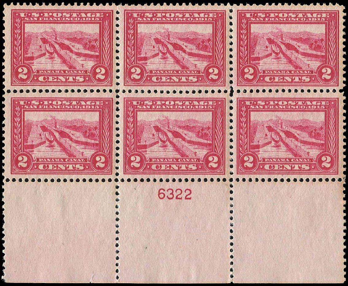 Values of US Stamp Scott #398 - 1913 2c Panama-Pacific Exposition. Regency-Superior, Nov 2014, Sale 108, Lot 1321