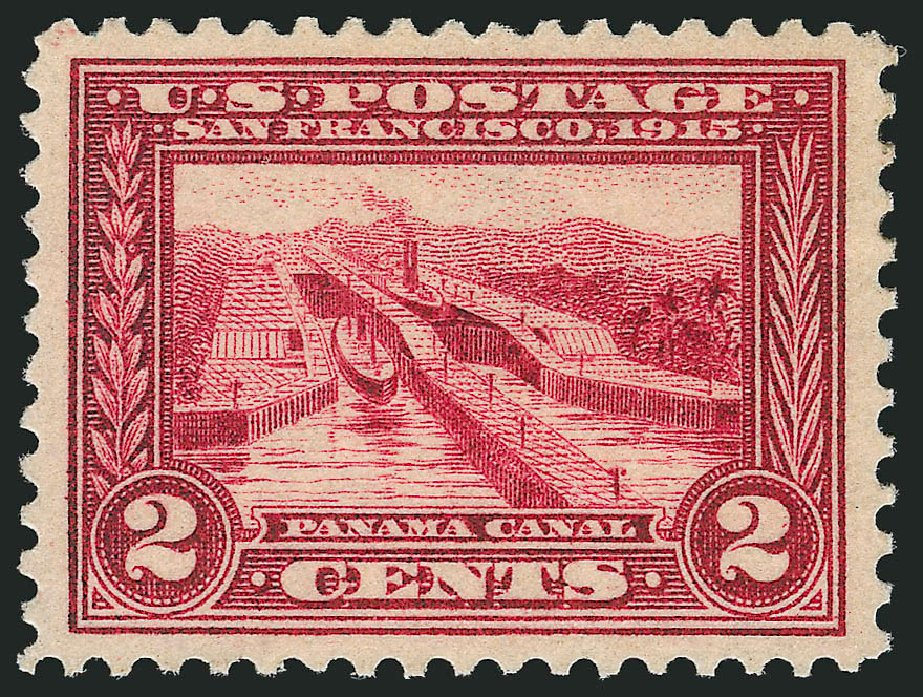 US Stamp Value Scott Cat. #398 - 2c 1913 Panama-Pacific Exposition. Robert Siegel Auction Galleries, Oct 2014, Sale 1082, Lot 451